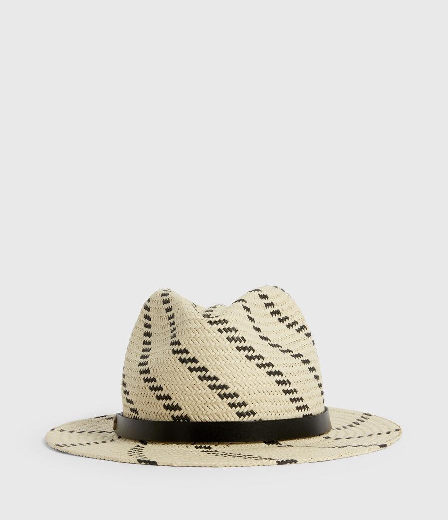 Donne Allie Straw Fedora Hat (natural_black) - Image 1