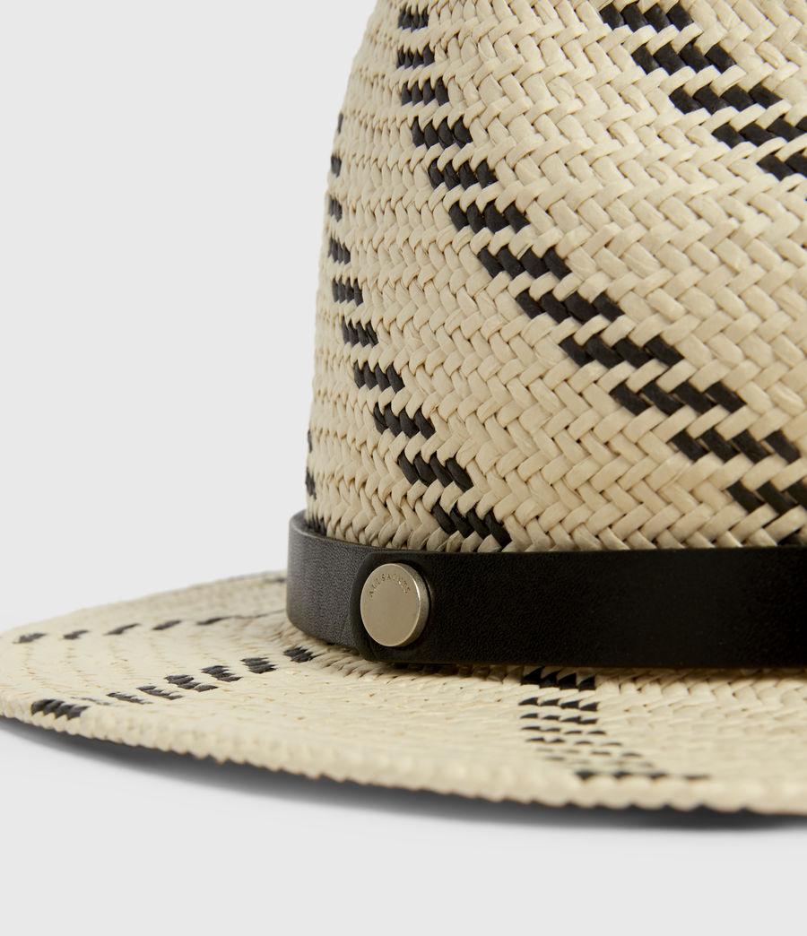 Donne Allie Straw Fedora Hat (natural_black) - Image 2