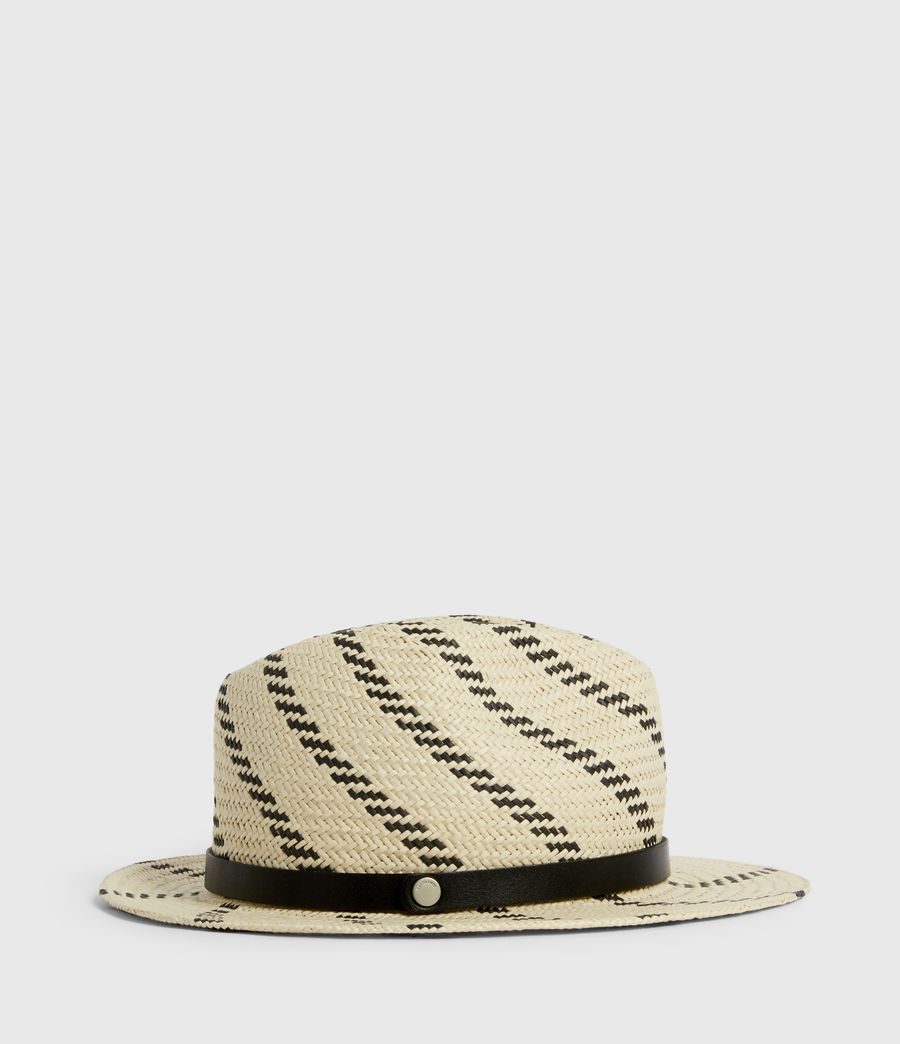 Donne Allie Straw Fedora Hat (natural_black) - Image 3