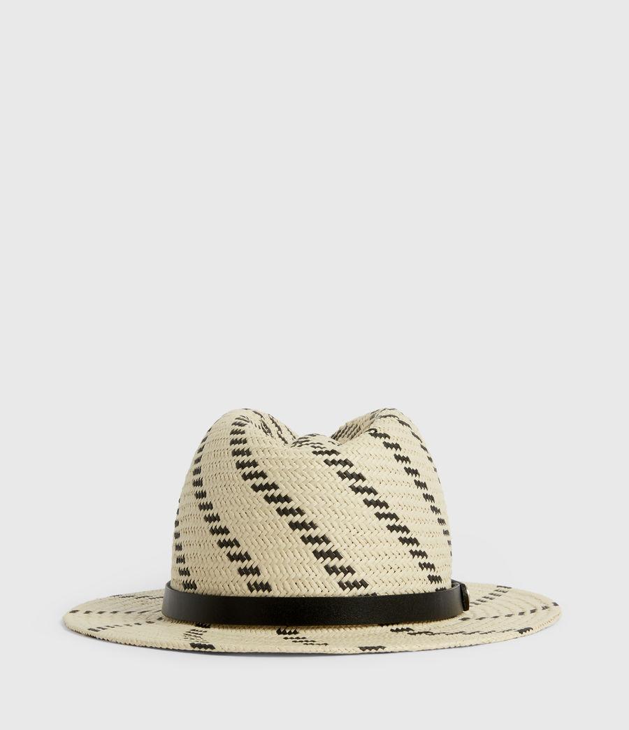 Donne Allie Straw Fedora Hat (natural_black) - Image 4