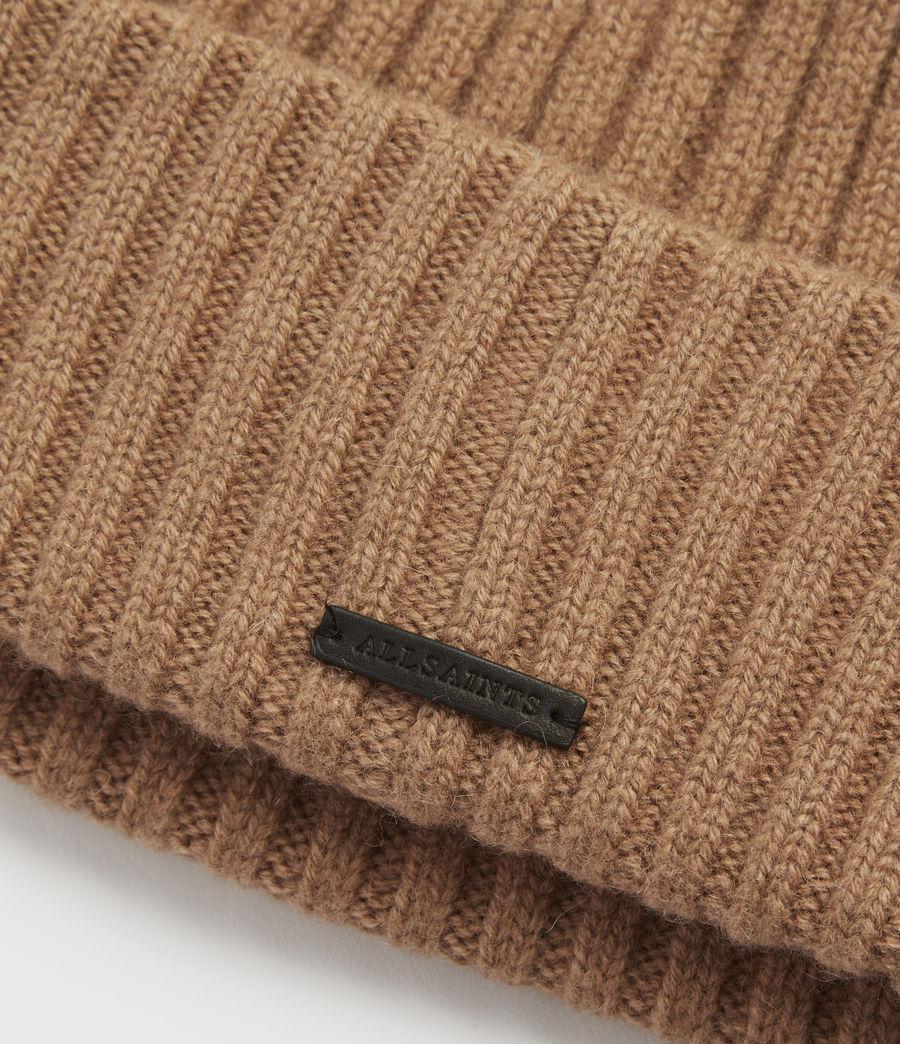 Womens Marled Wool Beanie (black) - Image 3