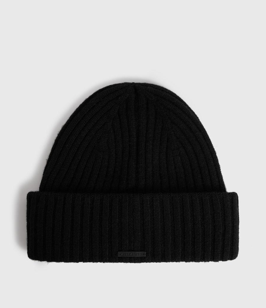 Womens Marled Wool Beanie (black) - Image 1