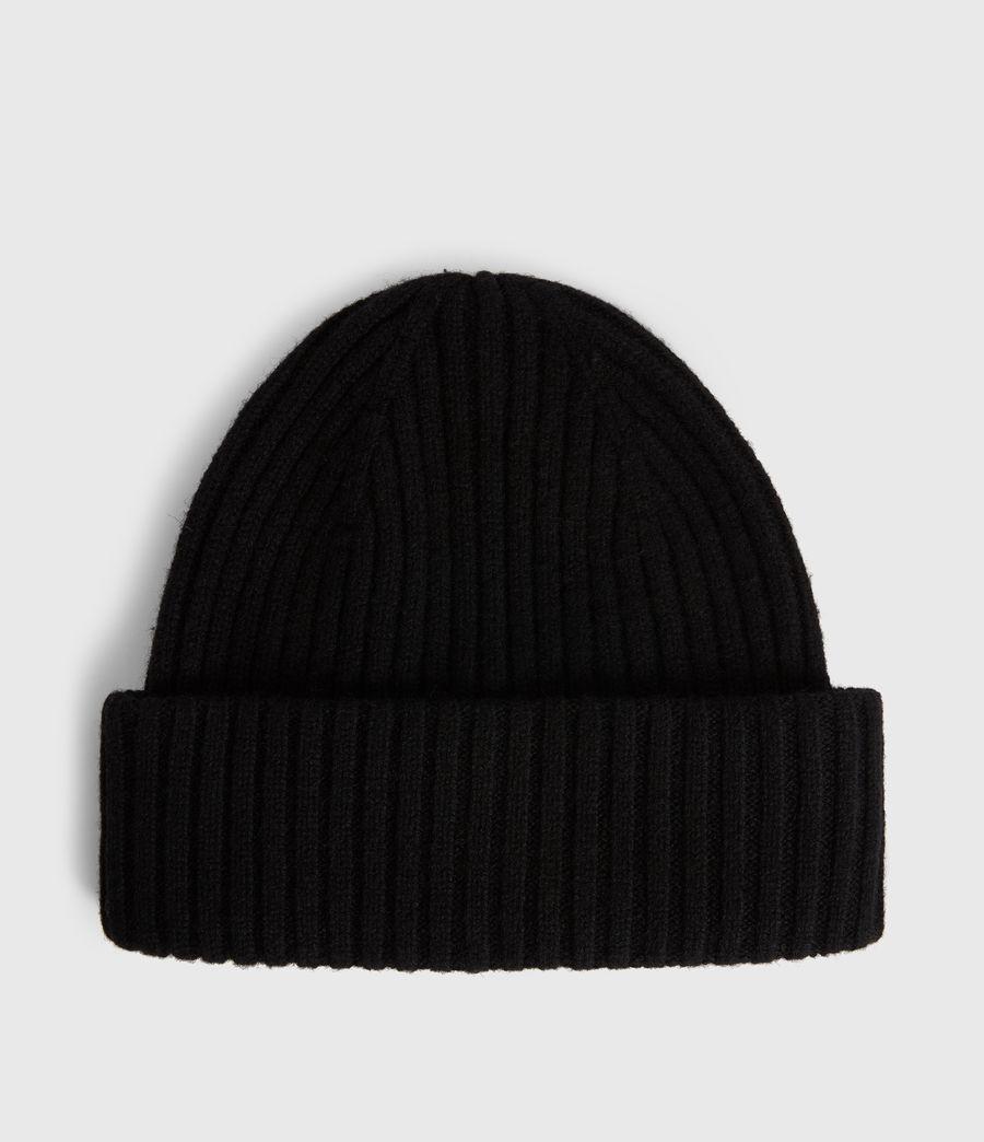 Womens Marled Wool Beanie (black) - Image 4