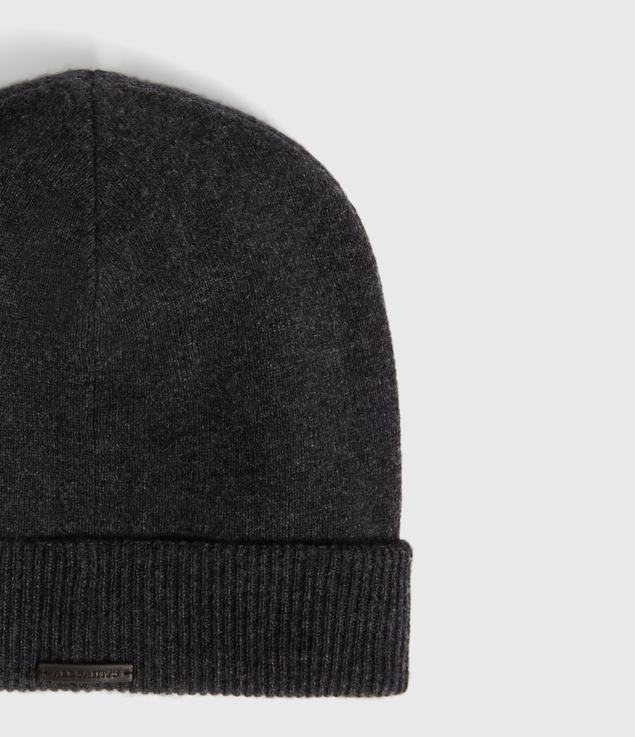 Womens Cashmere Blend Beanie (charcoal) - Image 2