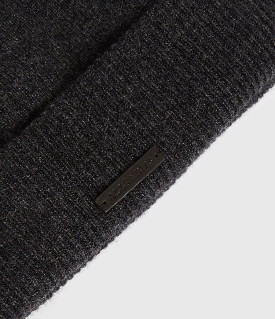 Womens Cashmere Blend Beanie (charcoal) - Image 3