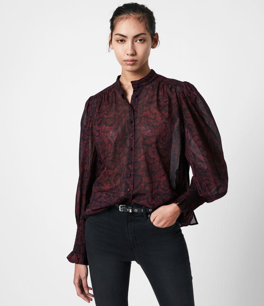 Women's Leonie Stanza Shirt (burgundy_red) - Image 1