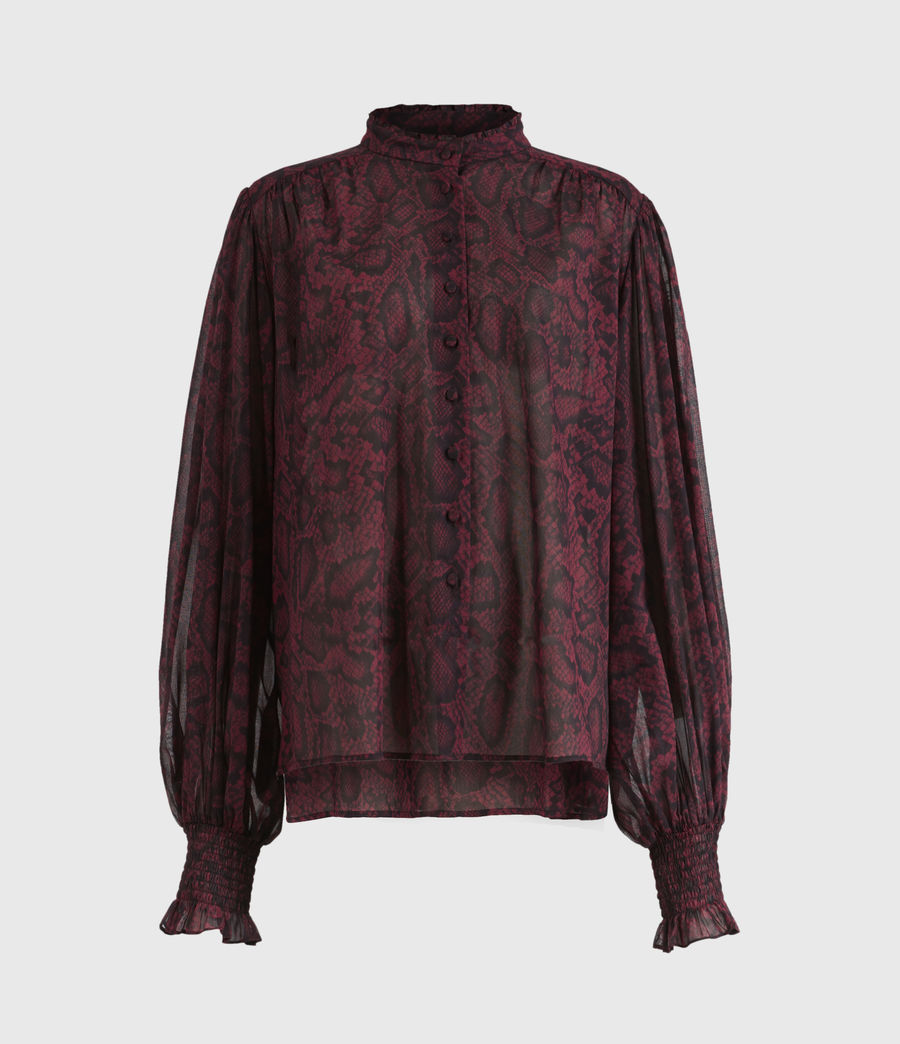 Women's Leonie Stanza Shirt (burgundy_red) - Image 2