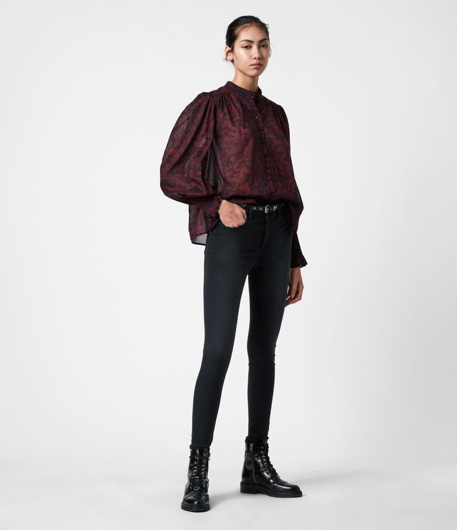 Women's Leonie Stanza Shirt (burgundy_red) - Image 4
