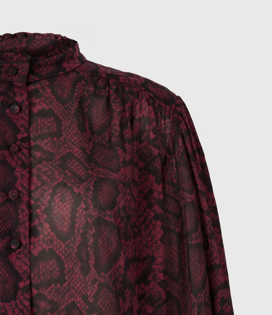 Women's Leonie Stanza Shirt (burgundy_red) - Image 5