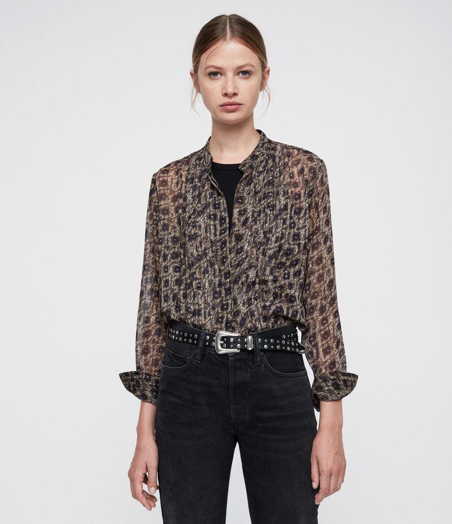 8b7ae351a8c ALLSAINTS ES  Mujer Cada Flux Shirt (sand brown)