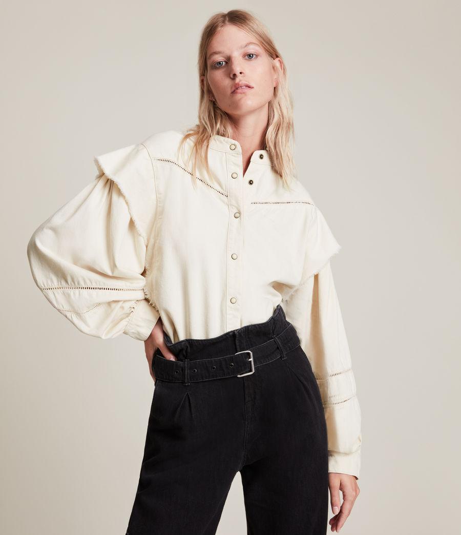 Women's Elena Denim Shirt (natural_white) - Image 1