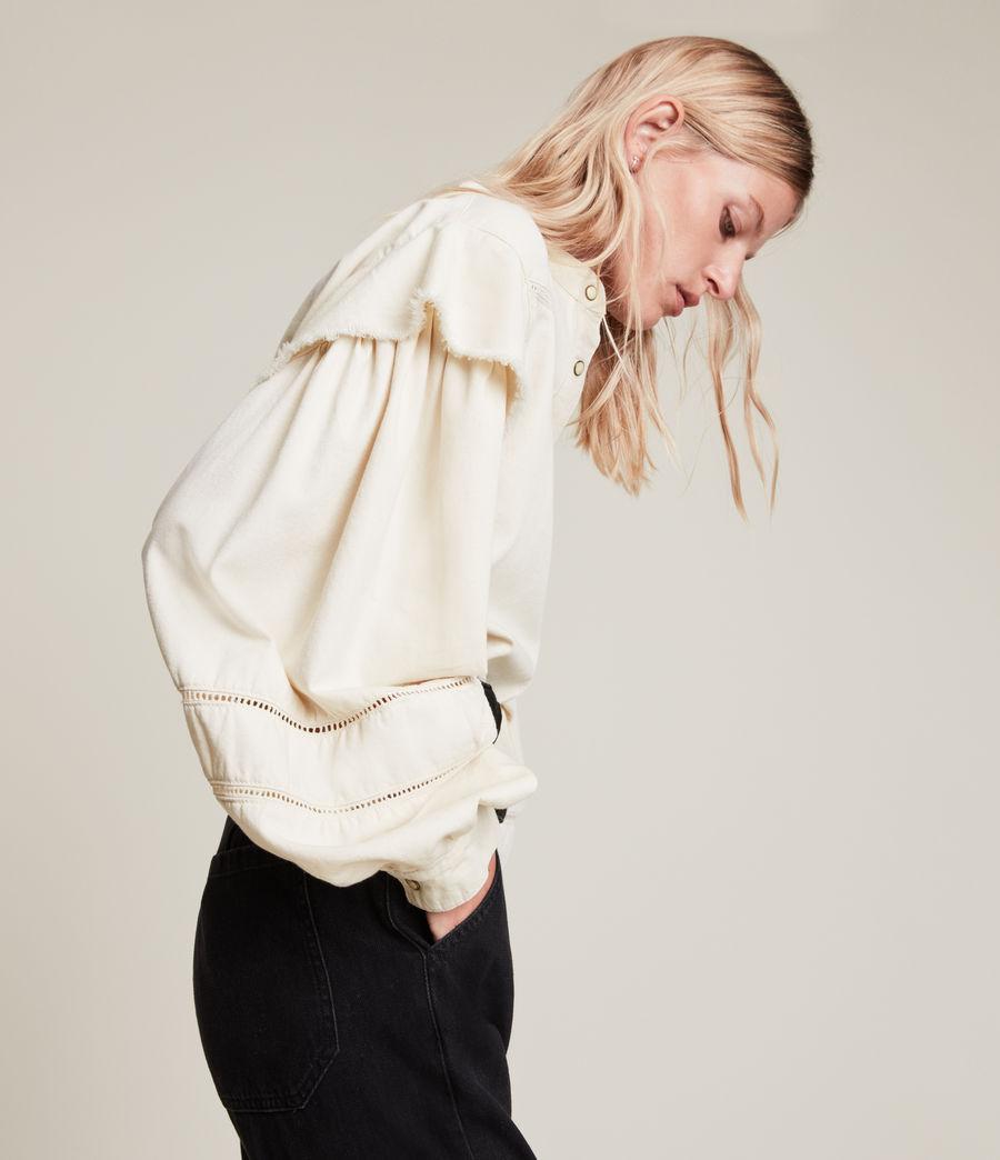 Women's Elena Denim Shirt (natural_white) - Image 2