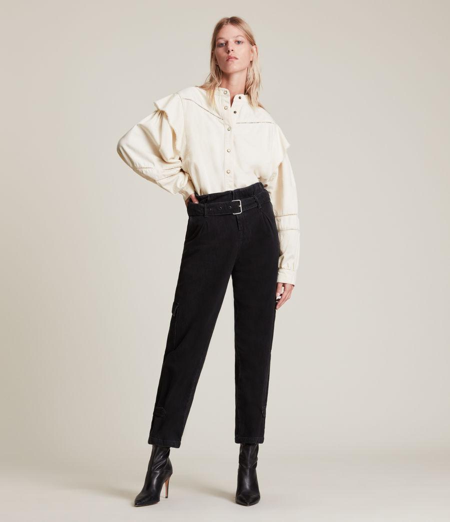 Women's Elena Denim Shirt (natural_white) - Image 3