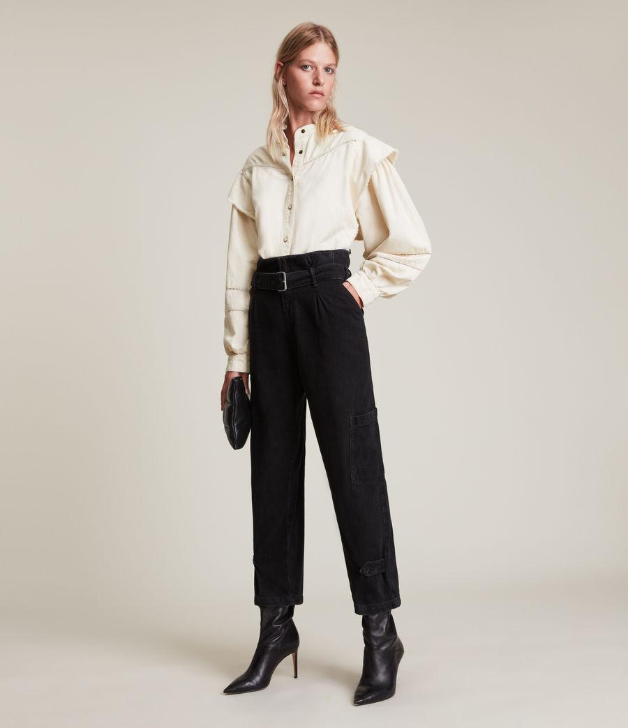 Women's Elena Denim Shirt (natural_white) - Image 4