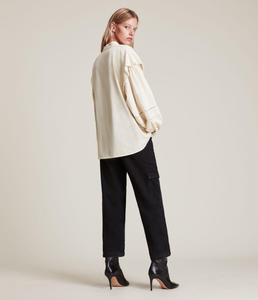 Women's Elena Denim Shirt (natural_white) - Image 5