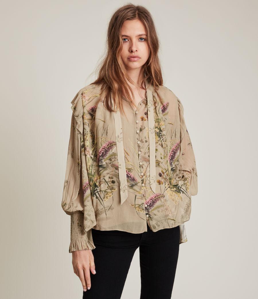Women's Lara Caledonian Shirt (khaki_green) - Image 1