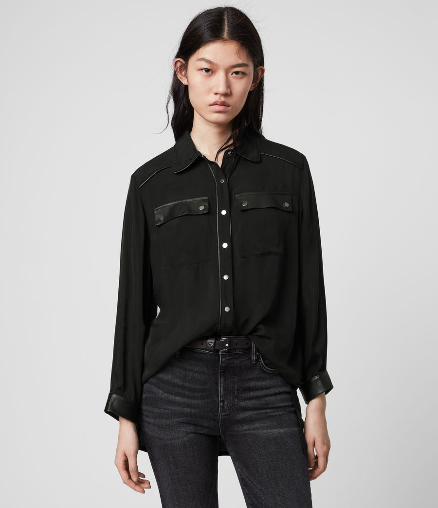 Mujer Esther Lea Shirt (black) - Image 1