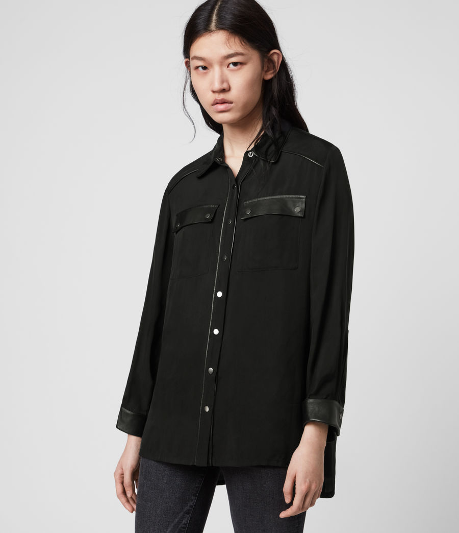 Mujer Esther Lea Shirt (black) - Image 4
