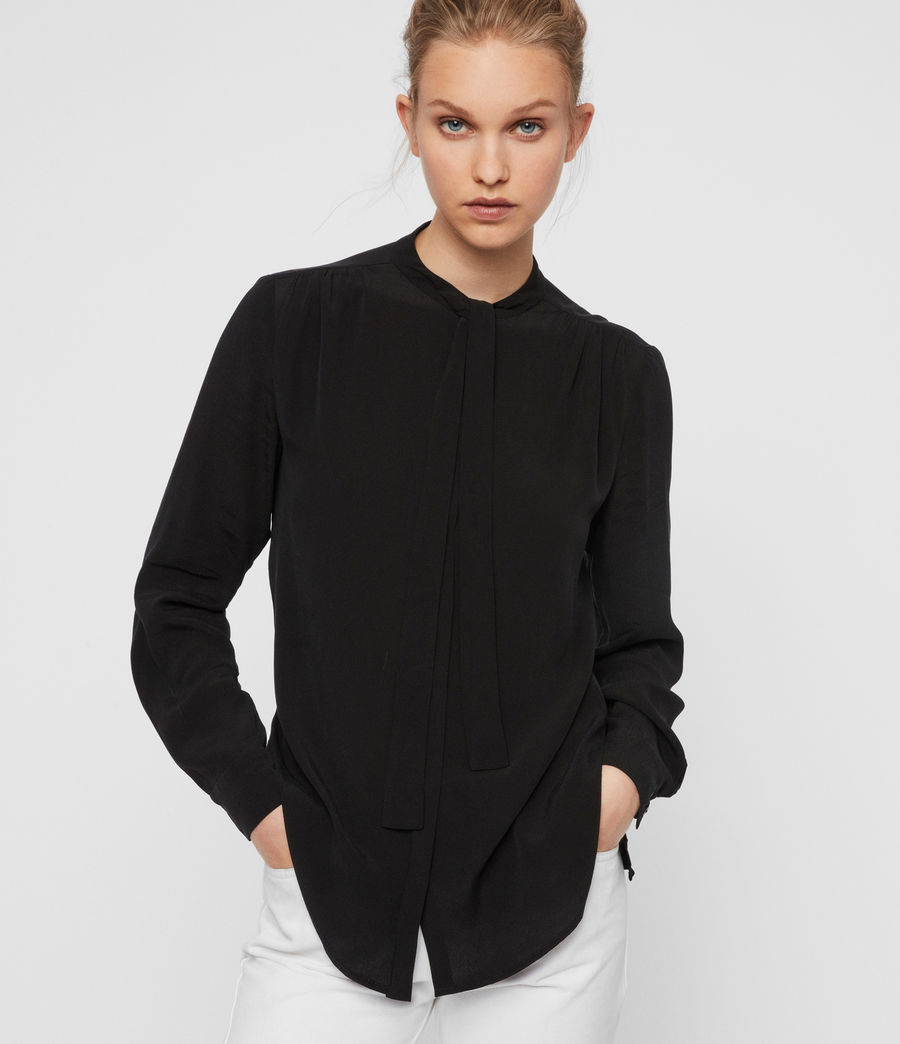 Women's Toni Shirt (black) - Image 4