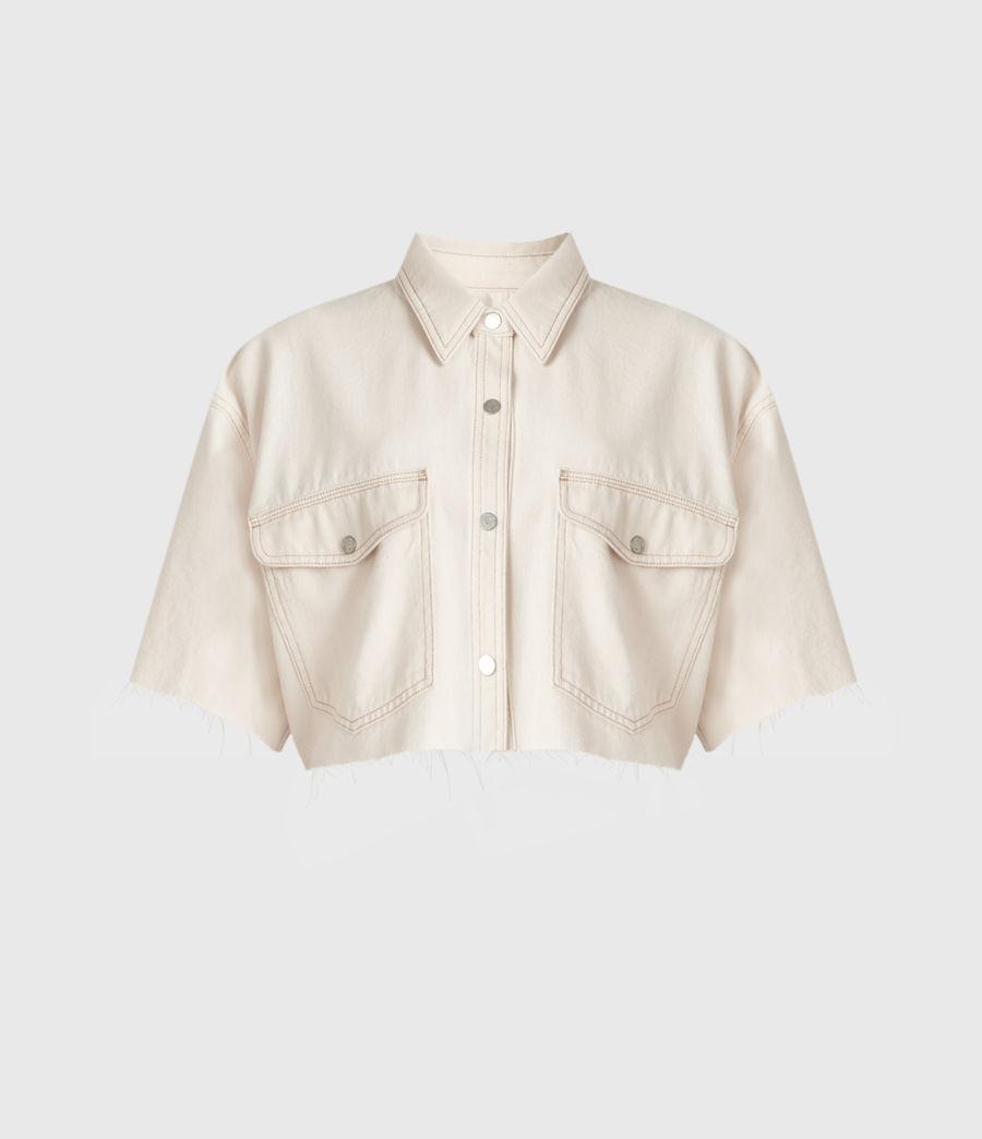 Damen Patty Cropped Shirt (natural_white) - Image 2