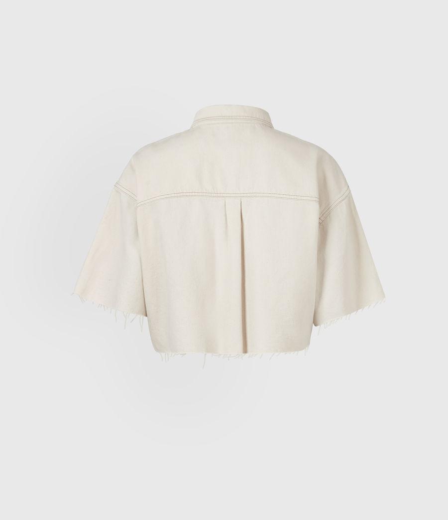 Damen Patty Cropped Shirt (natural_white) - Image 3