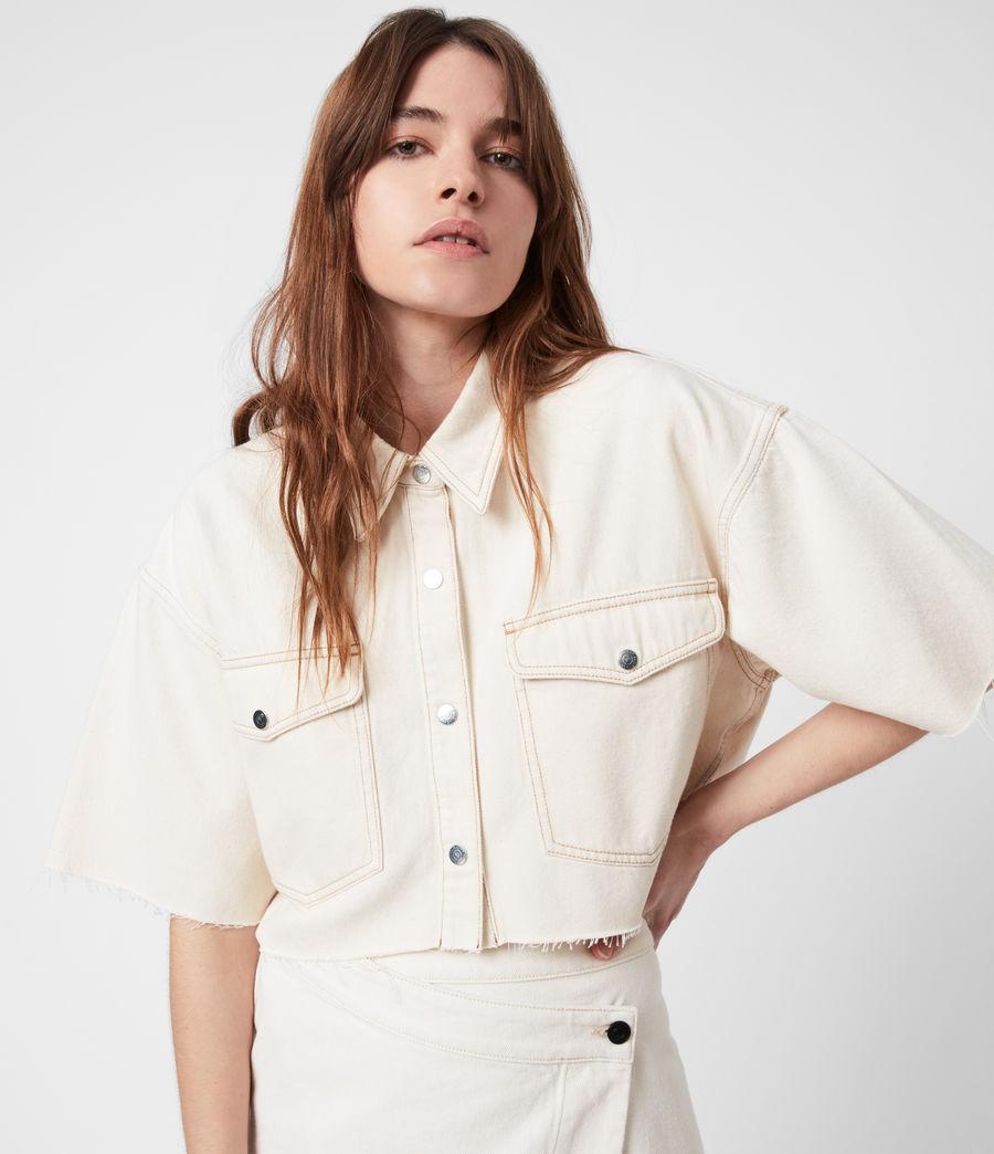 Damen Patty Cropped Shirt (natural_white) - Image 4