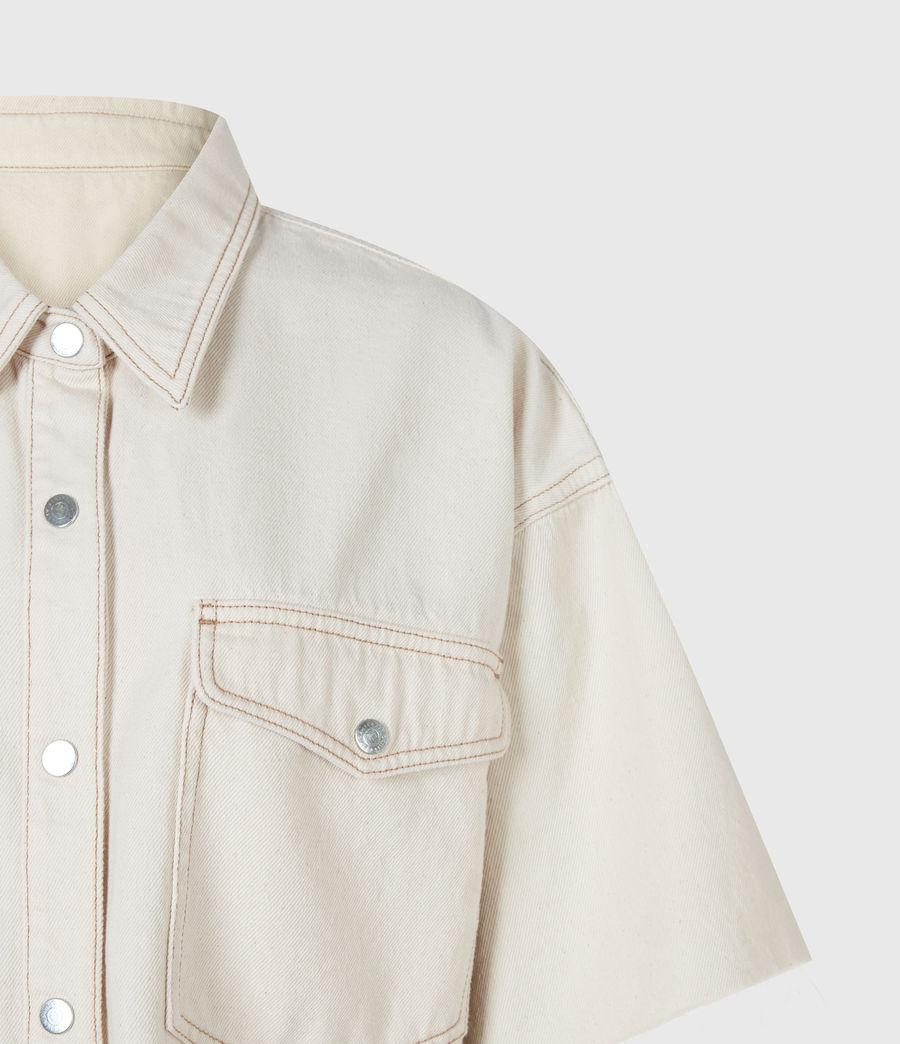 Damen Patty Cropped Shirt (natural_white) - Image 5