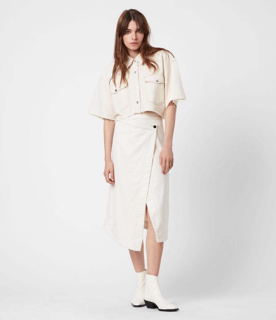 Damen Patty Cropped Shirt (natural_white) - Image 6