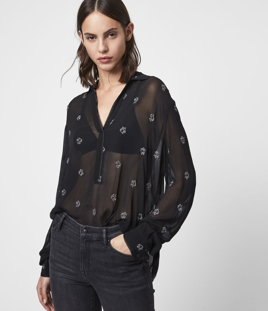Women's Keri Cyla Shirt (black) - Image 1