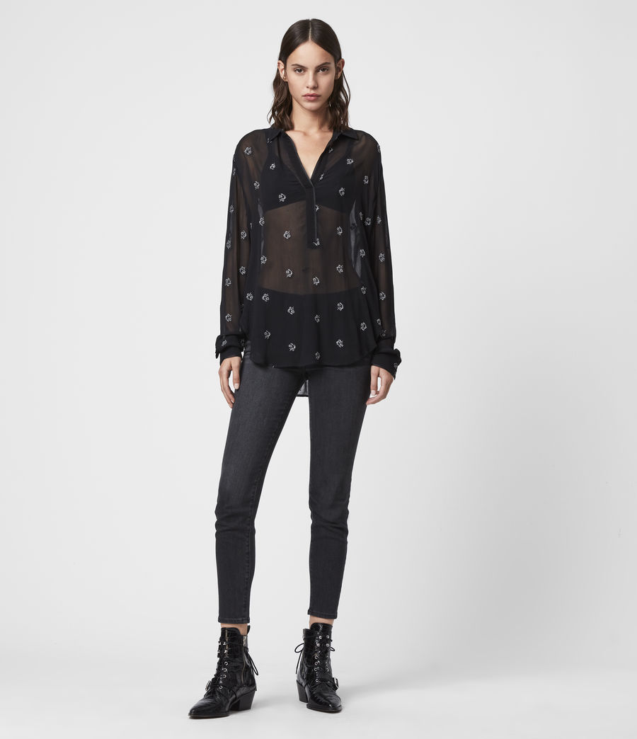 Women's Keri Cyla Shirt (black) - Image 3