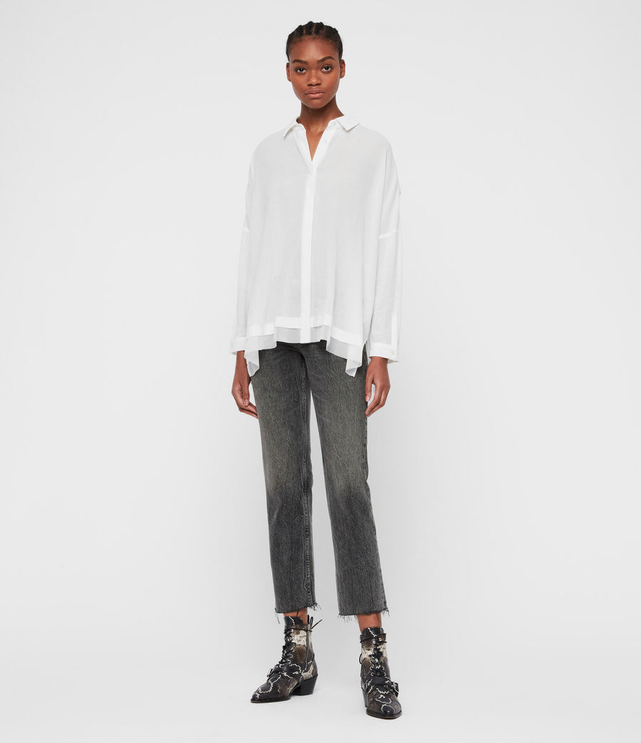Women's Katia Shirt (chalk_white) - Image 3