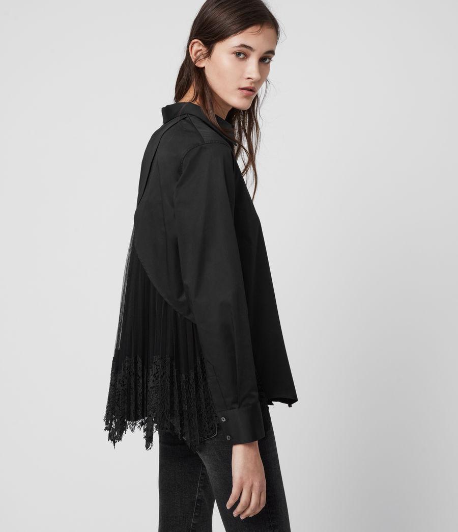 Women's Iris Lace Shirt (black) - Image 1
