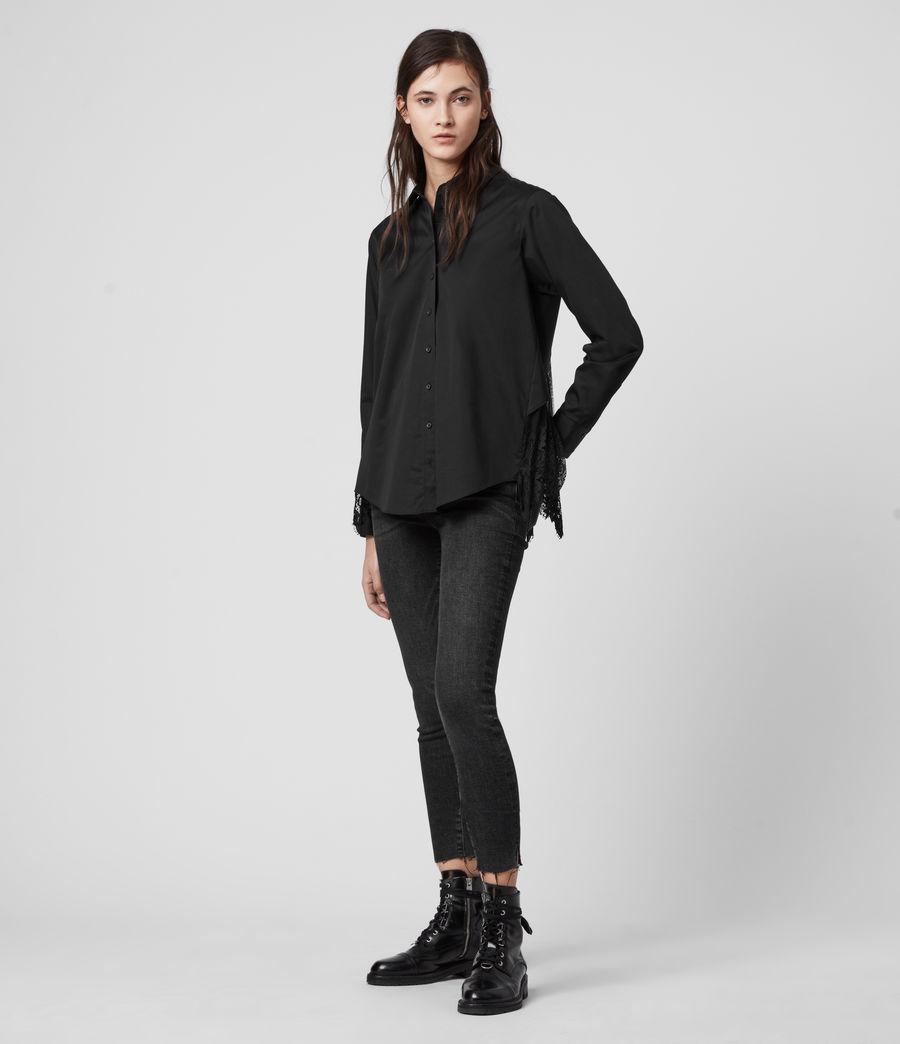 Women's Iris Lace Shirt (black) - Image 2
