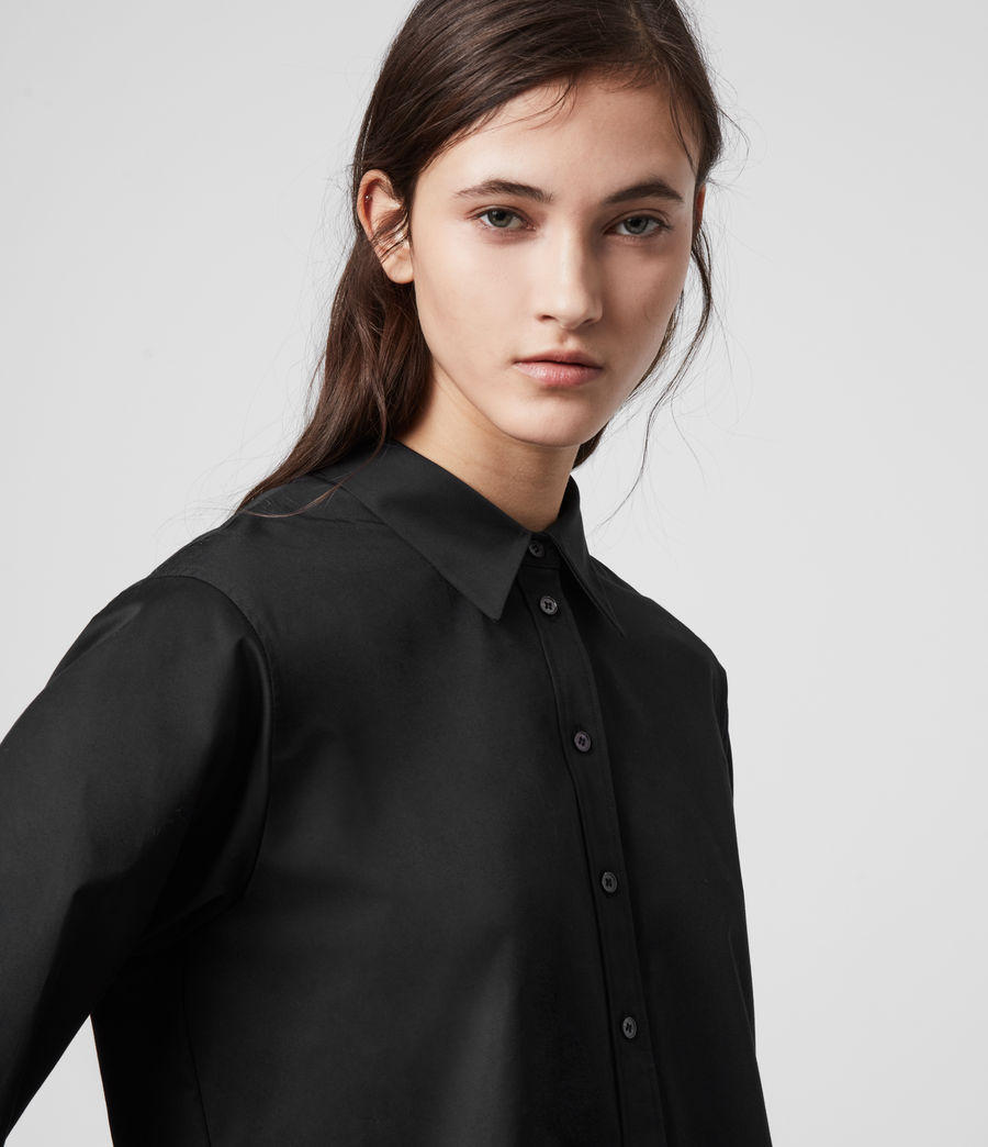 Women's Iris Lace Shirt (black) - Image 3
