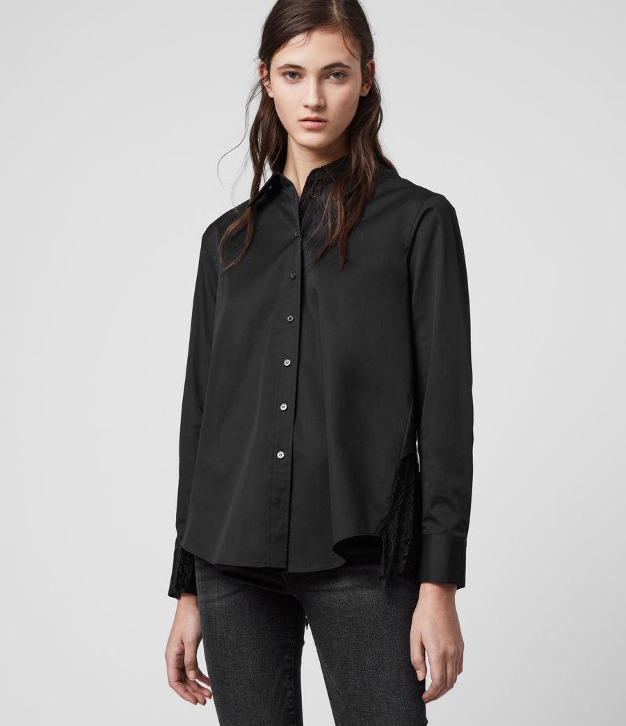 Women's Iris Lace Shirt (black) - Image 4