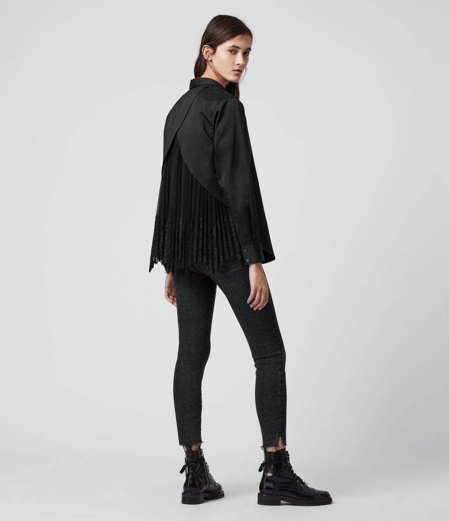 Women's Iris Lace Shirt (black) - Image 6