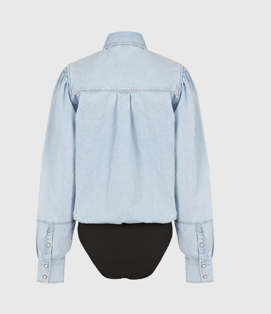 Damen Veela Shirt Bodysuit (light_indigo) - Image 3