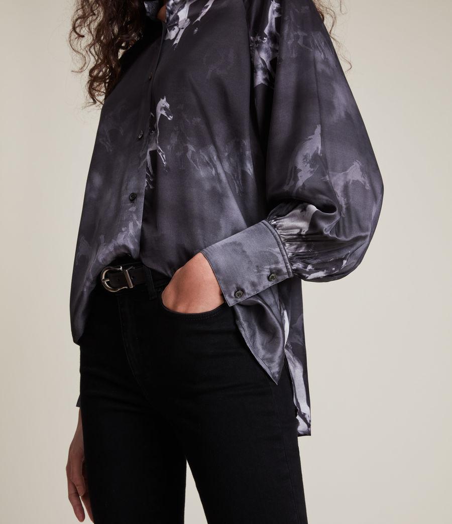 Women's Oana Epoto Silk Blend Shirt (black) - Image 2