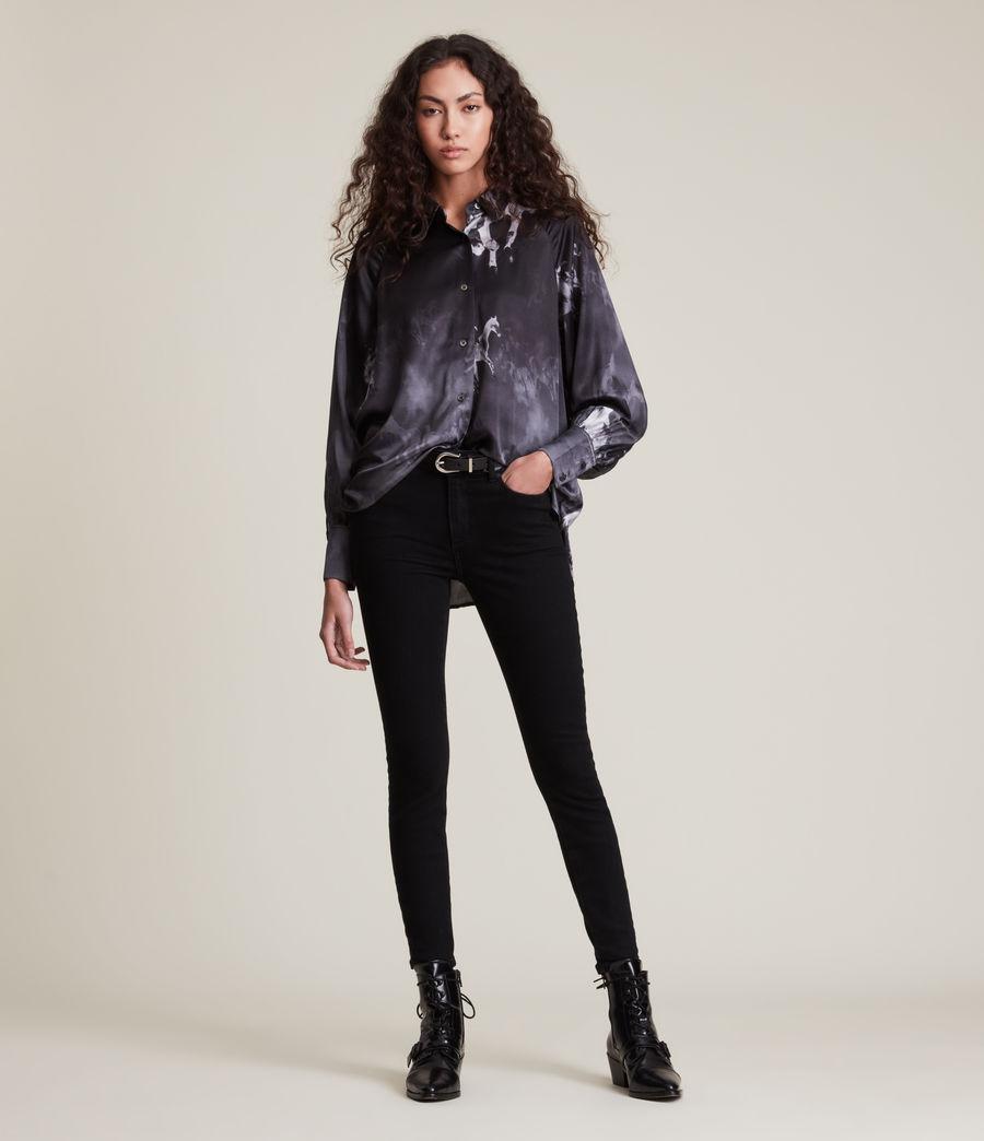 Women's Oana Epoto Silk Blend Shirt (black) - Image 3