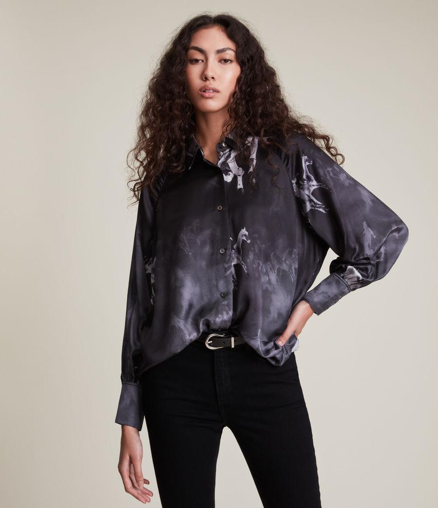 Women's Oana Epoto Silk Blend Shirt (black) - Image 4