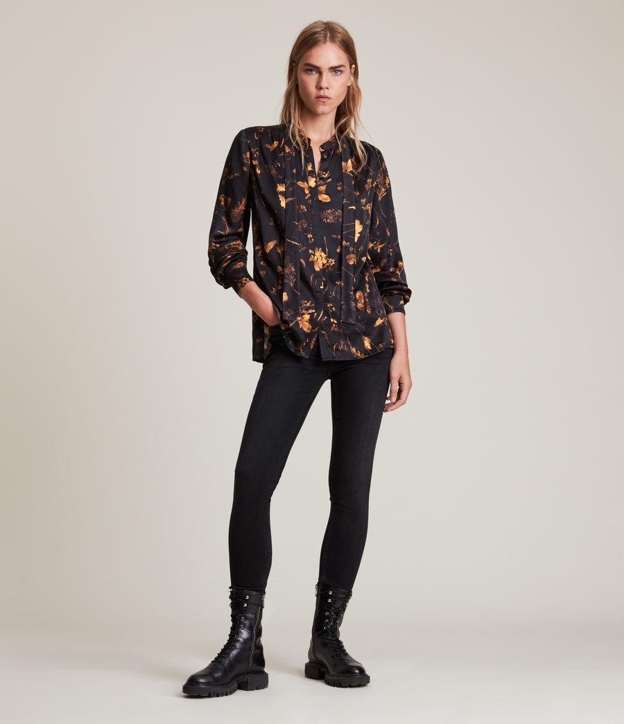 Women's Toni Heligan Silk Blend Shirt (black_gold) - Image 3
