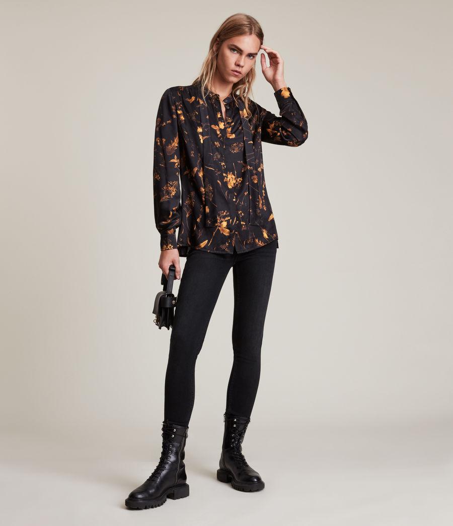 Women's Toni Heligan Silk Blend Shirt (black_gold) - Image 4