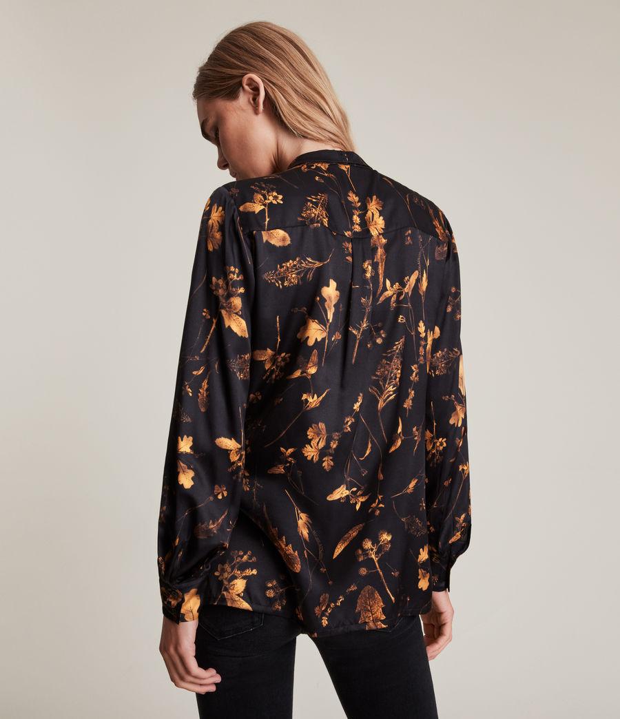 Women's Toni Heligan Silk Blend Shirt (black_gold) - Image 5