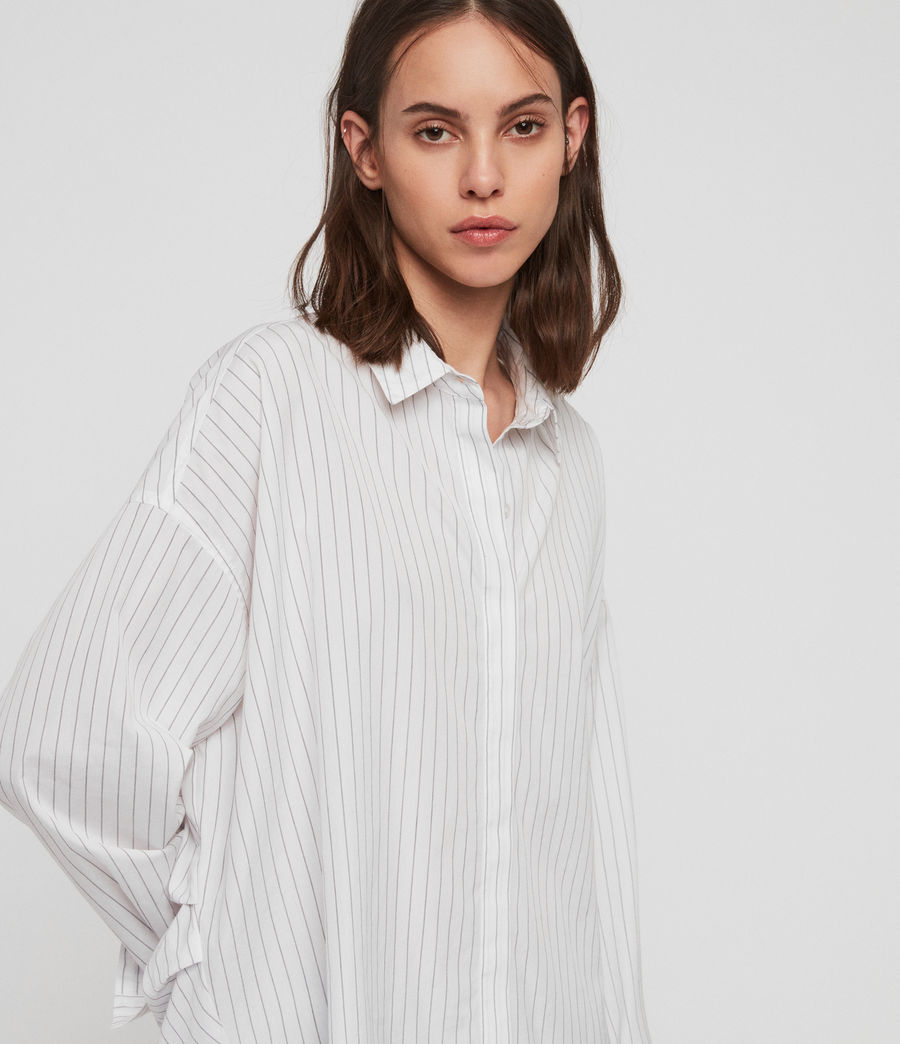 Womens Sada Stripe Shirt (chalk_white_black) - Image 2