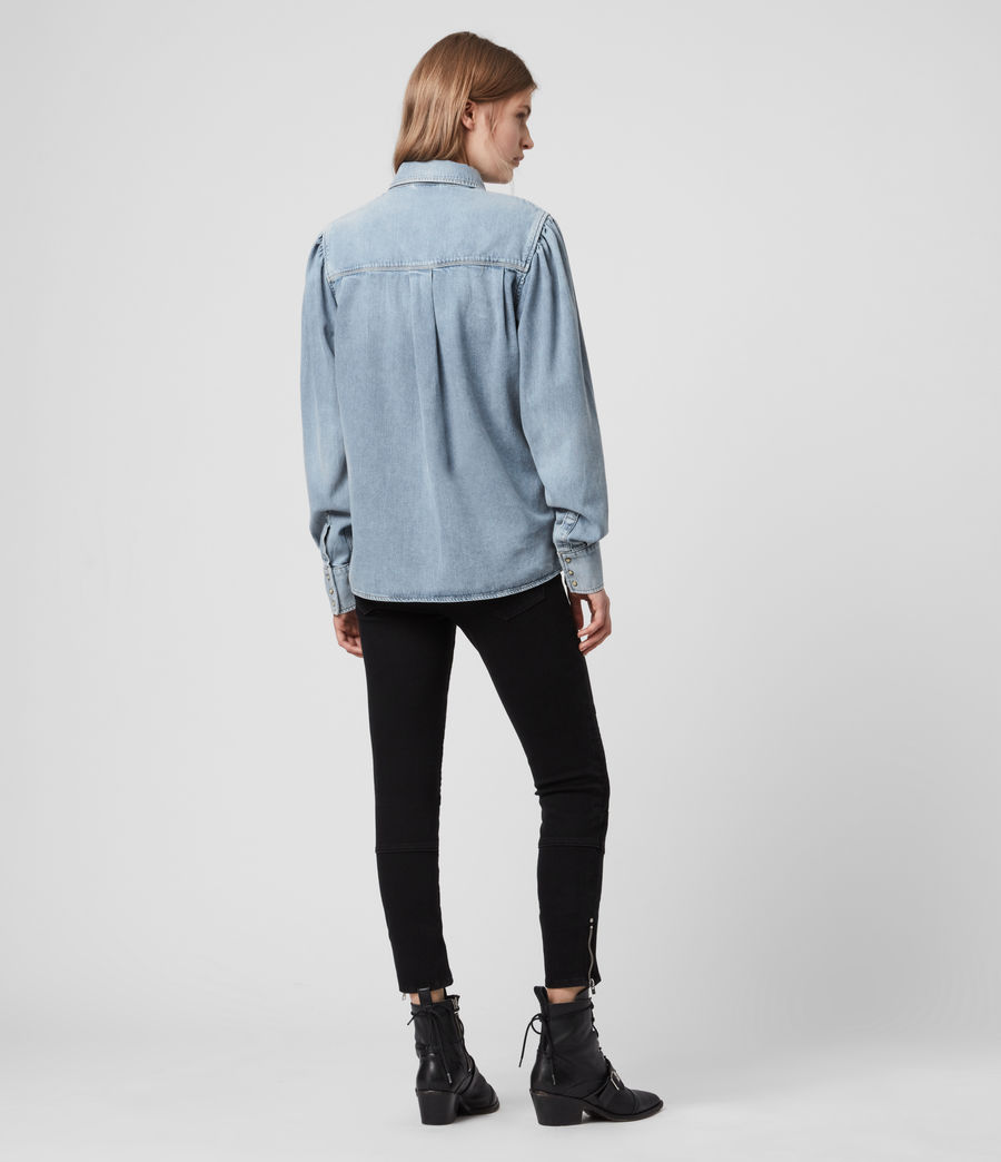 Women's Ava Denim Shirt (light_indigo_blue) - Image 5