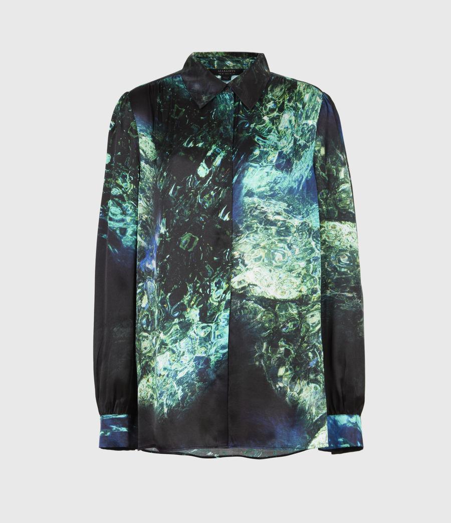 Womens Ava Springs Silk Blend Shirt (emerald_green) - Image 2