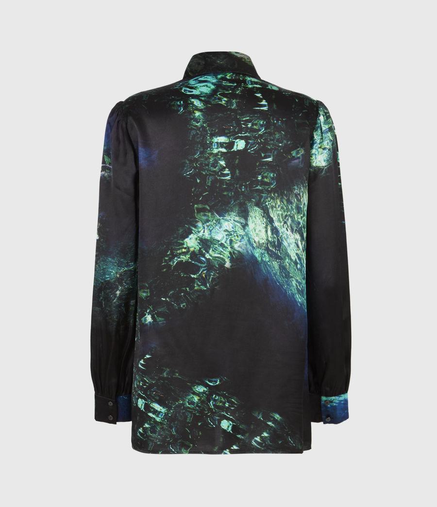 Womens Ava Springs Silk Blend Shirt (emerald_green) - Image 3