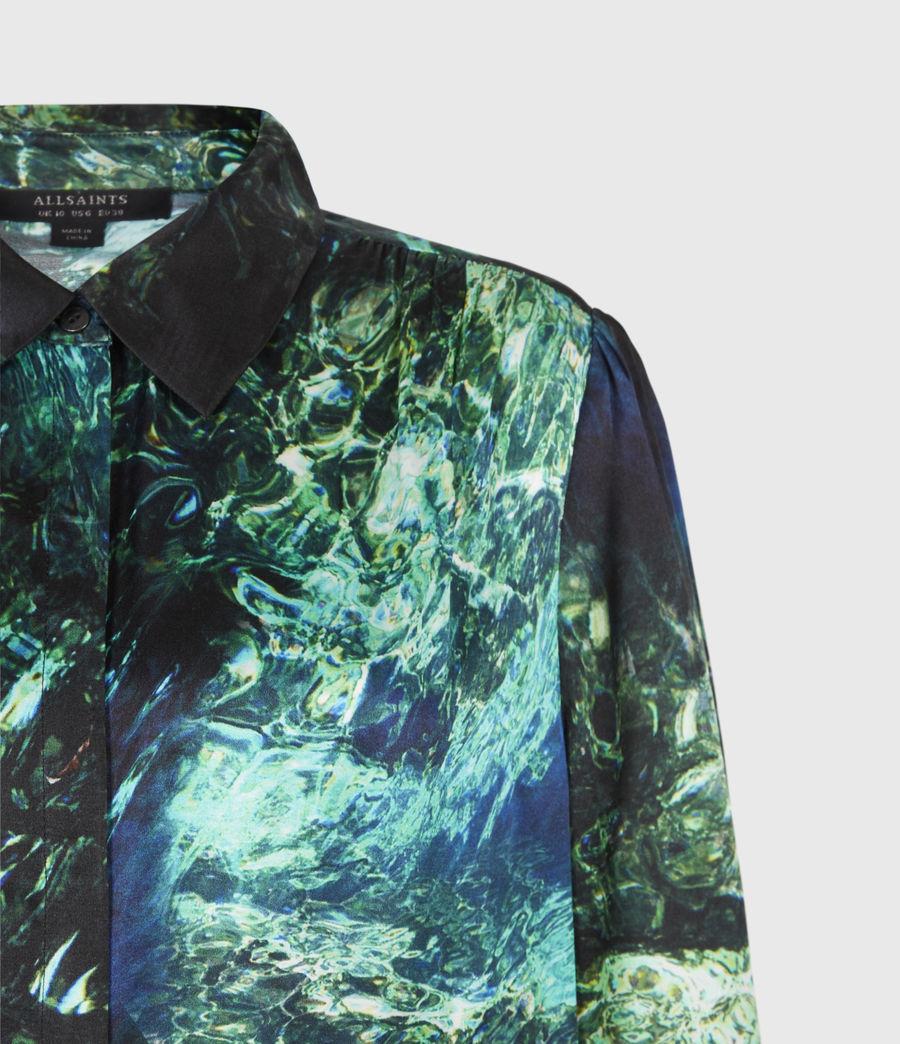 Womens Ava Springs Silk Blend Shirt (emerald_green) - Image 5