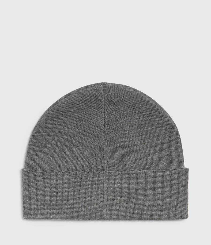 Womens Aspen Cuff Merino Wool Beanie (grey_chalk) - Image 3