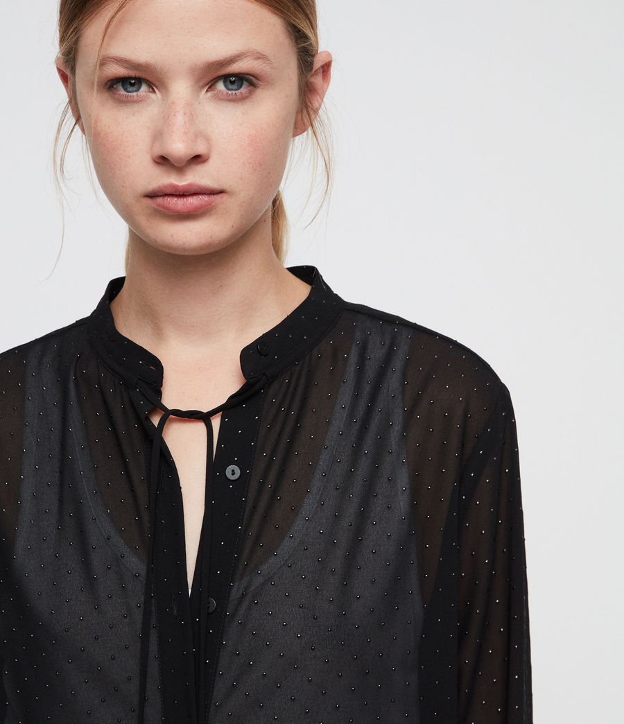 Women's Cada Shimmer Shirt (black) - Image 2